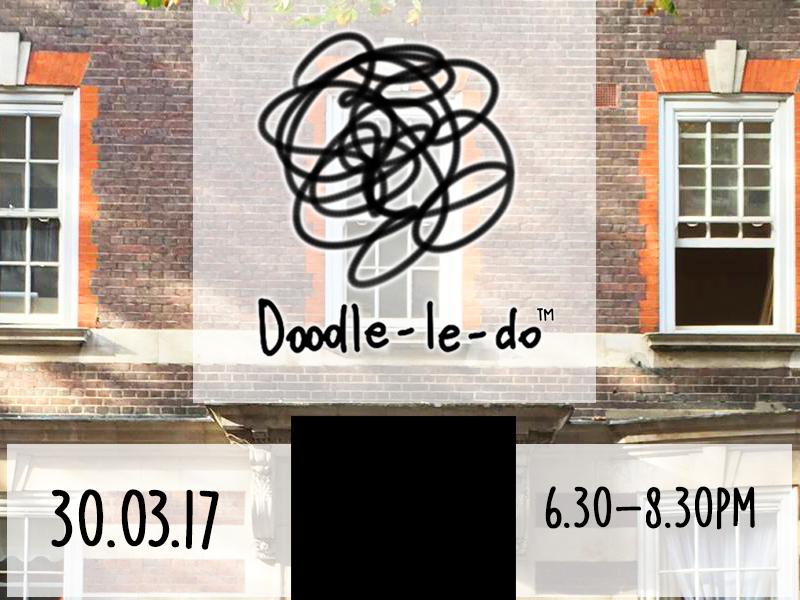 Doodleledo at Roam hand made building london space creative event art logo doodleledo