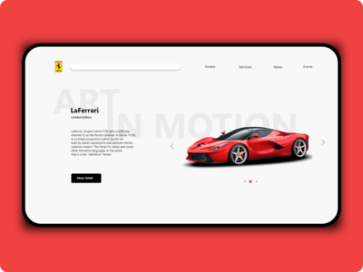 Landing page LaFerrari
