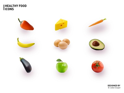 Illustrated Healthy Food Icons