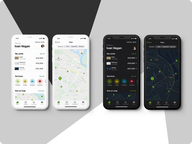 PrivatBank_concept mobile challenge ux design finance app bank app ios app mobile app design