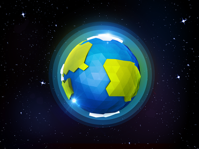 Low Poly Planets planet lens flare space low poly