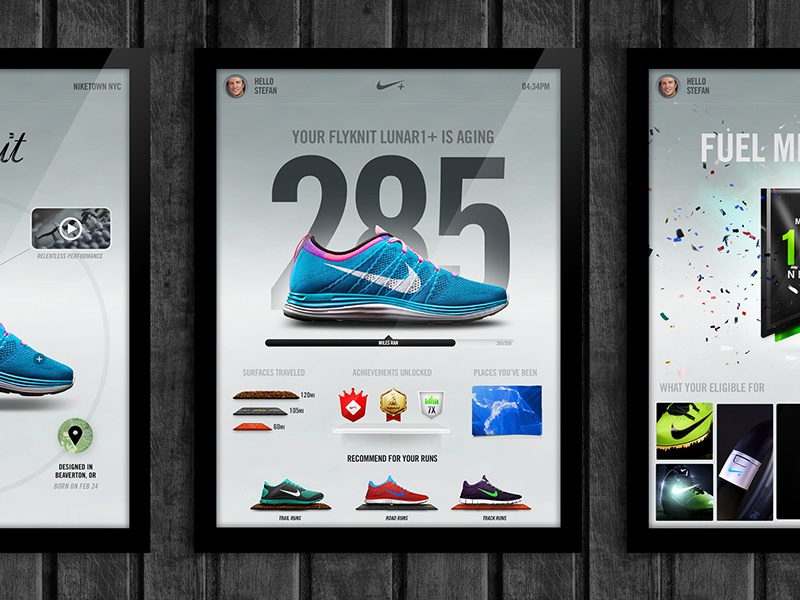Nike Interactive Posters nike nikefuel numbers achievements shoes posters