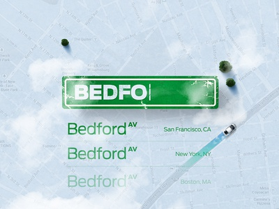 Street Input concept cars street sign bedford newyork ny trees top view shadow blue green clouds