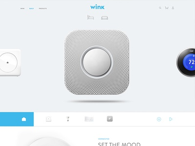 wink.com connected home site nest website layout products