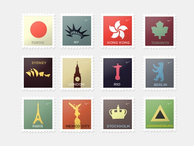 Stamps stamps cities tokyo new york hong kong toronto sydney london rio berlin paris mexico city stockholm