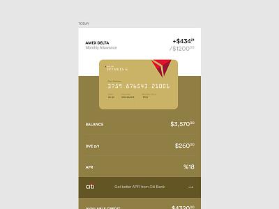 Card Detail delta money finance credit card amex