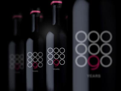 9 Years wine packaging