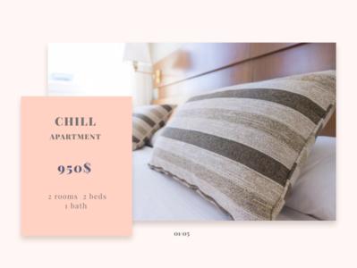 "Баннер для веб-сайта ""Аппартаменты"" дизайн веб-дизайн веб-сайт веб сайт баннер"