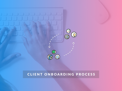 Client onboarding process illustration