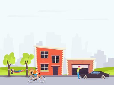 Street life illustration