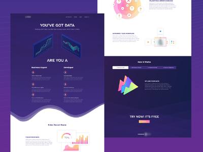 WIP Data startup landing page