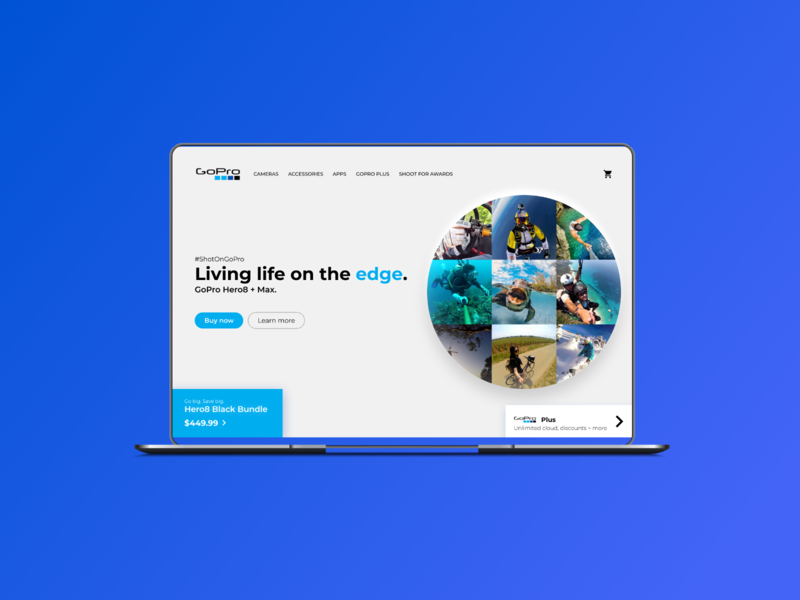 GoPro Hero8 Landing Page Design