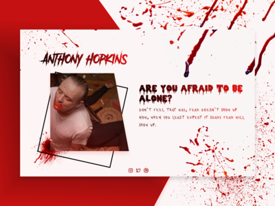 Design Something Spooky! - Landing page from Anthony Hopkins