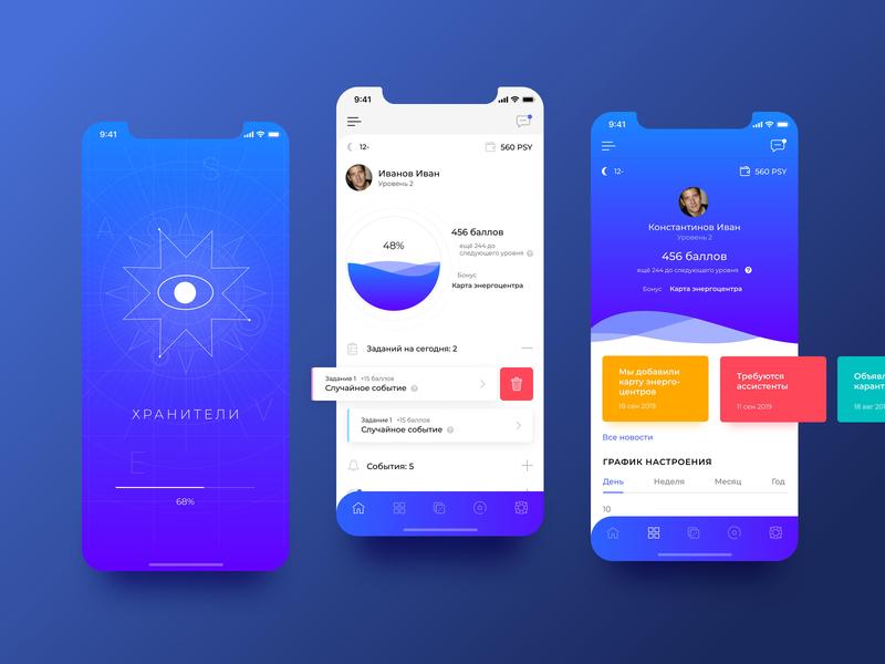 Guardians app app mobile ui design