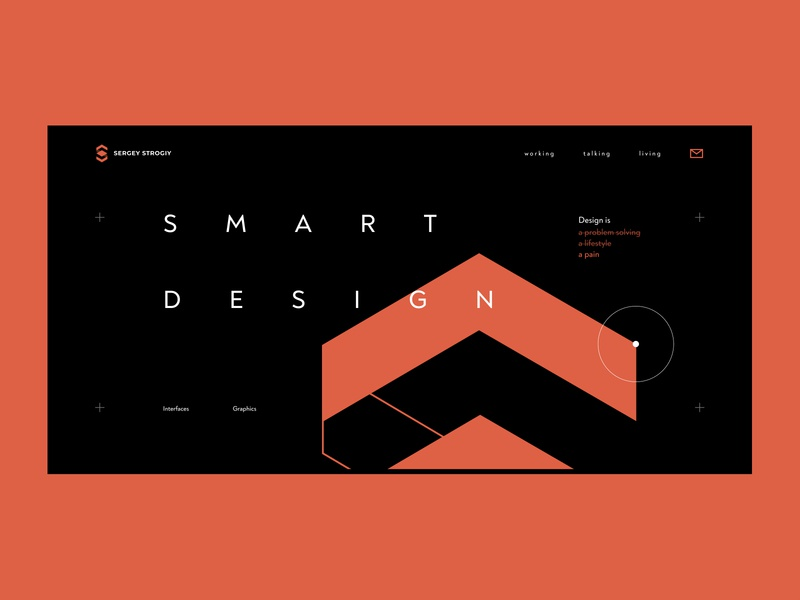 Portfolio site design dark ui hero web design