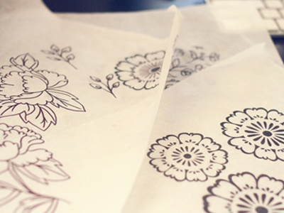 Sketch florals