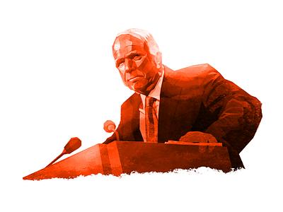 McCain illustration russia trump usa politics russiagate clinton mccain