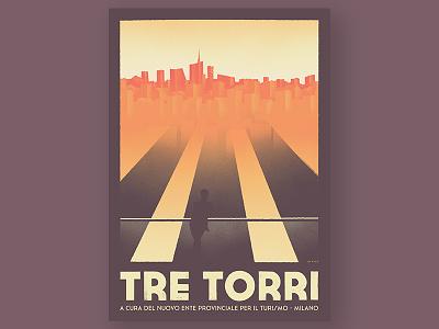 Tre Torri view turism city urban skyscraper tower landscape italy milano milan torri tre