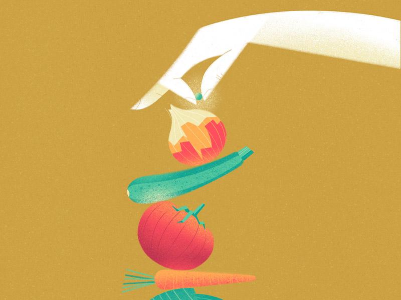 Dedication care balance dedication carrots tomato onion vegetables