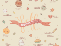 bucket list for fall ♡