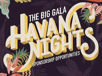 Big Brother Big Sister | Havana Nights | Hand Lettering hand lettering hand drawn handlettering typography design illustration