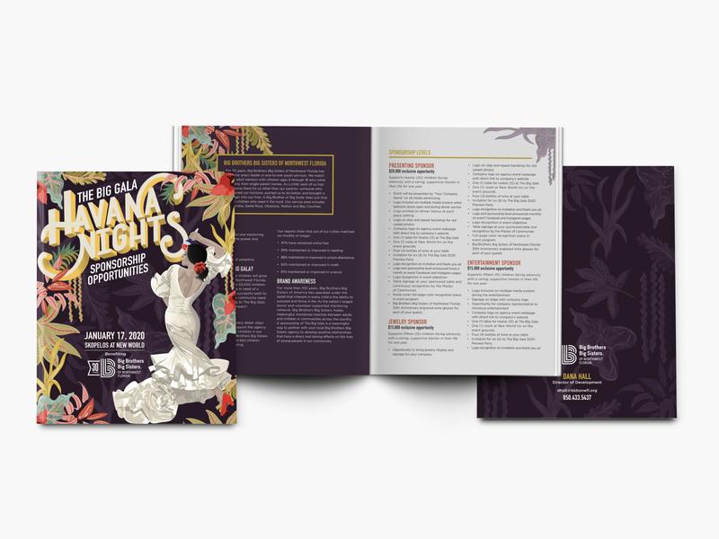 Big Brother Big Sister | Sponsorship Packages| Brochure editorial illustration editorial design editorial brochure design brochure layout typography illustration hand lettering handlettering hand drawn design
