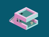 3D Isometric Building
