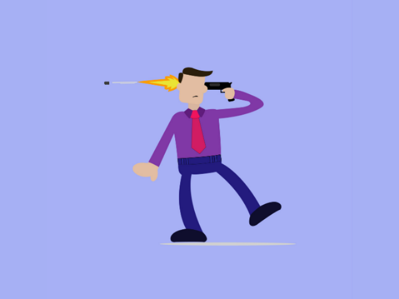 Man committing suicide suicide international mens day flat illustration illustration adobe illustrator