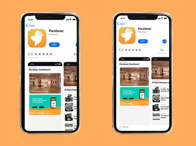 Parabeac mobile app mockup
