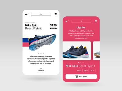 Rebranding Nike Store Web App