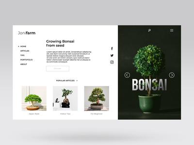 Web Design for Jonifarm Bonsai Specialist