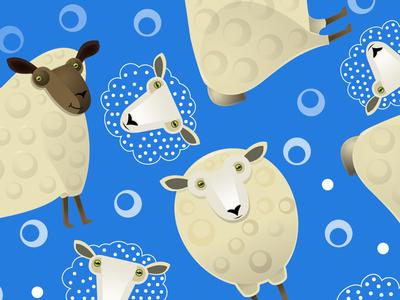 Sheep Textile Design