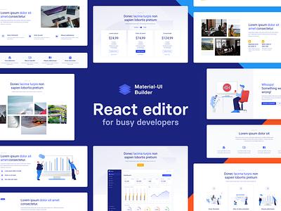 [Shuffle.dev] Material-UI Builder - React Editor material-ui library development react dev ux ui