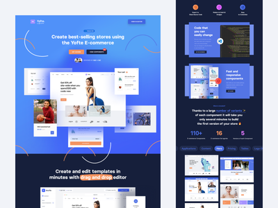 Yofte E-commerce for Tailwind CSS 🥳 bootstrap material ui bulma components visual editor ui libraries tailwind ux ui ui ux blocks editor drop drag frontend e-commerce