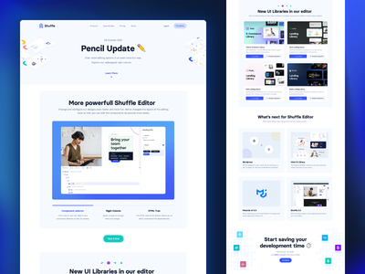 Pencil Update ✏️ no code no-code css html editor material-ui bulma bootstrap tailwind ui ux