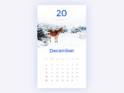 Daily UI #21 - Calendar dailyui download freebies 20 december winter calendar blue ux ui symu