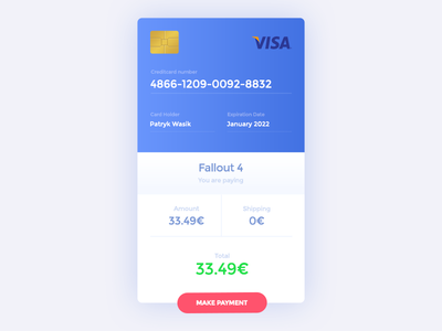 Daily UI #22 - Payment dailyui download freebies payment blue ux ui symu