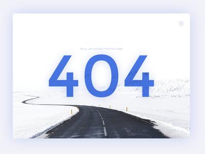 Daily UI #24 - Error 404