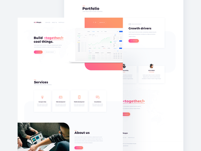 Codeapps 🚀 build pink house software homepage web ux ui