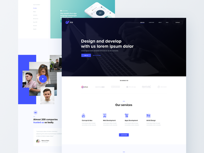 JCD New website 🚀 showcase work video ux ui web new jcd