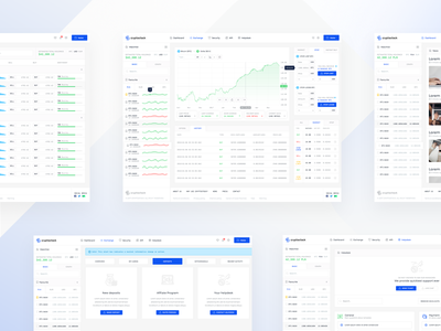 Cryptostock 💼 eth btc blue platform traders exchange ico bitcoin cryptocurrency ux ui