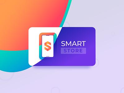 Smart Store Logotype smartphone logotype design illustration branding logo