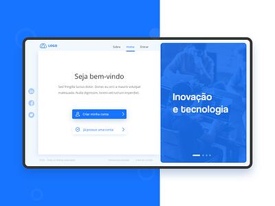 Homepage Login for desktop desktop homepage web design design ux concept