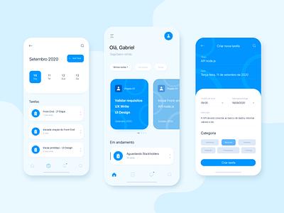Task App Concept illustrator interface mobilie task manager project task flat app design app concept ux ui