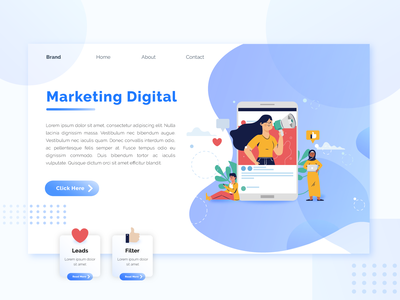 Landing Page Concept marketing web illustrator ux ui landing page design concept