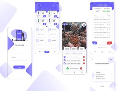 Trade App Concept xd market trade ui ux flat design concept app
