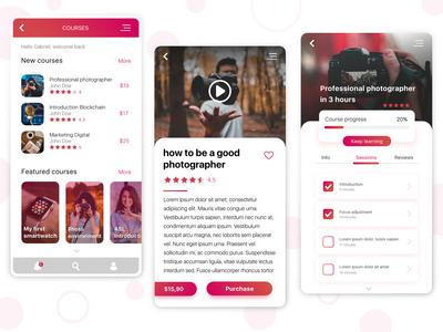 Online Courses app Concept