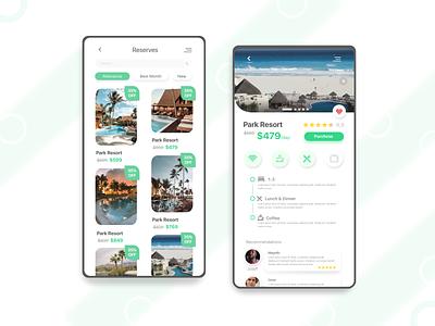 Reserves App Concept product design mobile hotel app flat xd app app design design ui ux concept illustrator reserve