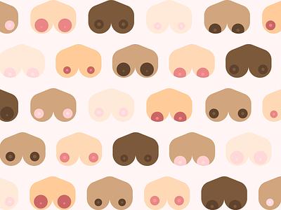 bewbs flat neutral colors nude boobs flat design illustration cute graphicdesign flatdesign