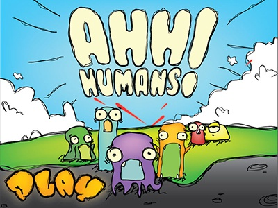 Ahh Humans! i believe ahh humans game concept ufo invasion aliens